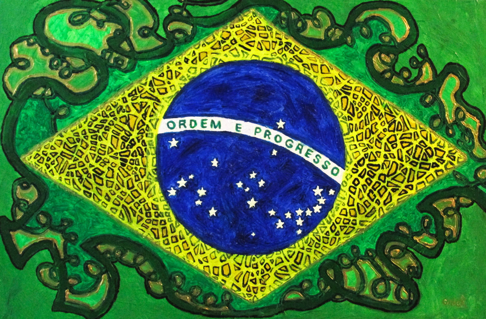 "Ariel Shallit painting of ""Brazil #1: 9 Hours"""