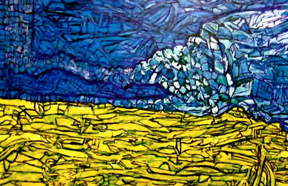 Ariel Shallit painting of Ukraine #2