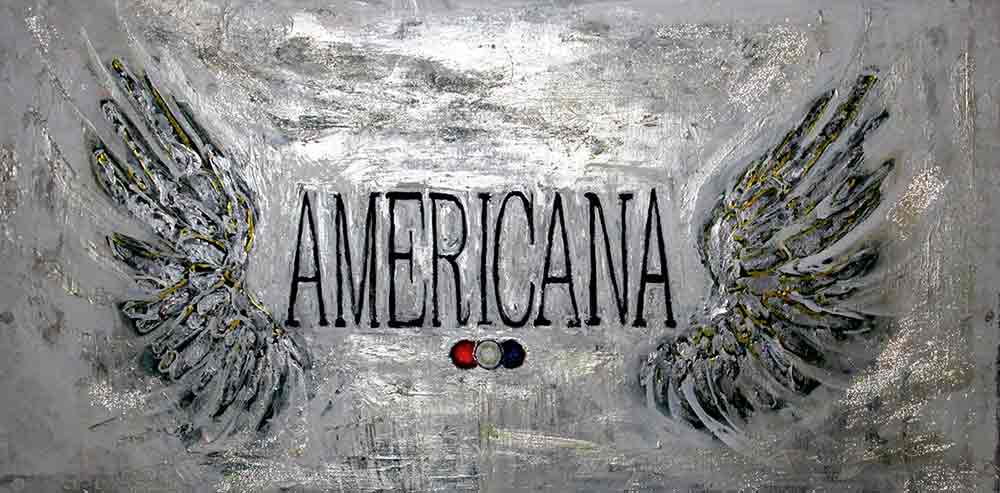 Ariel Shallit painting of Americana Models