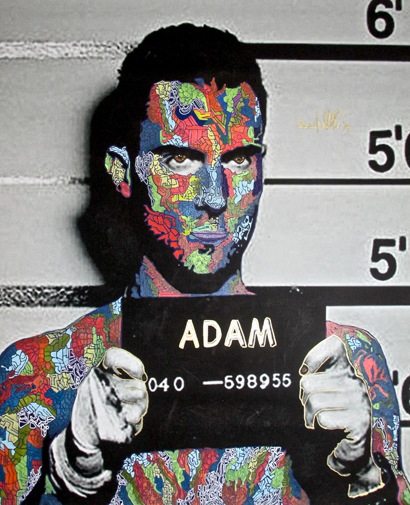 Ariel Shallit painting of Adam Levine