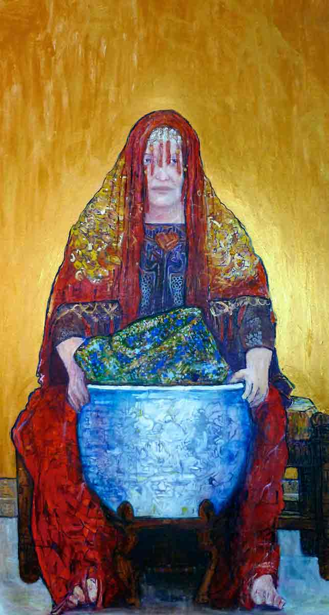 Ariel Shallit painting of Ages of Woman #3