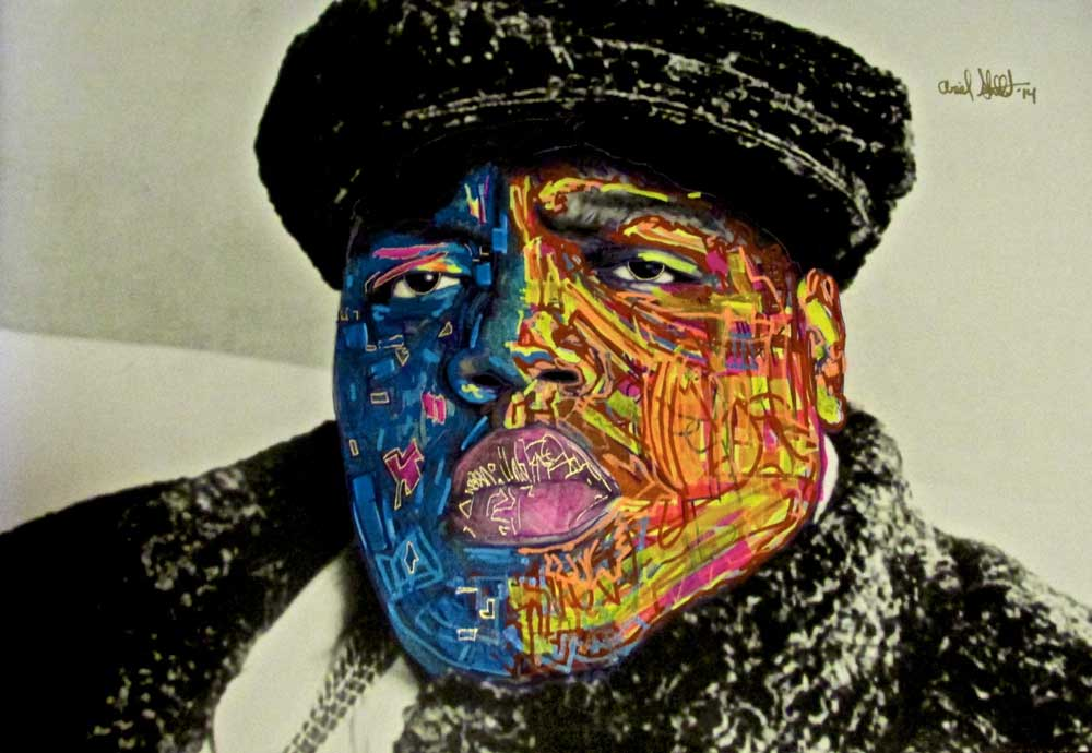 Ariel Shallit painting of Biggie Smalls