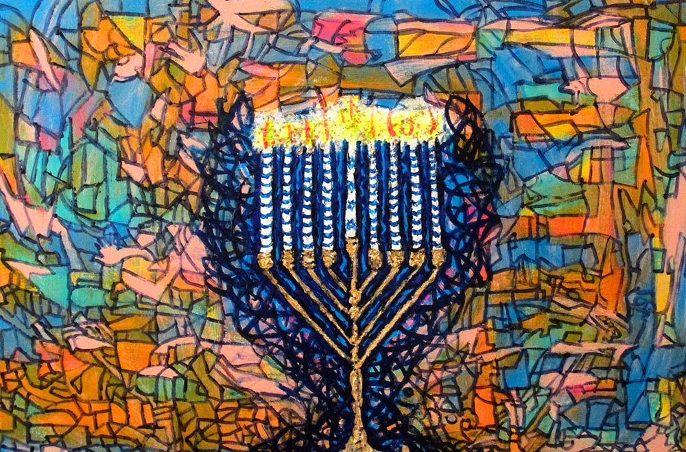Ariel Shallit painting of Hanukkah 5774 #5