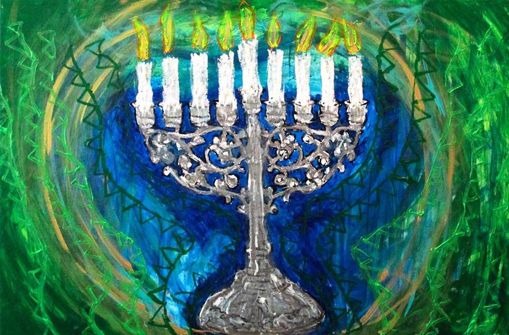 Ariel Shallit painting of Hanukkah-5774 #7