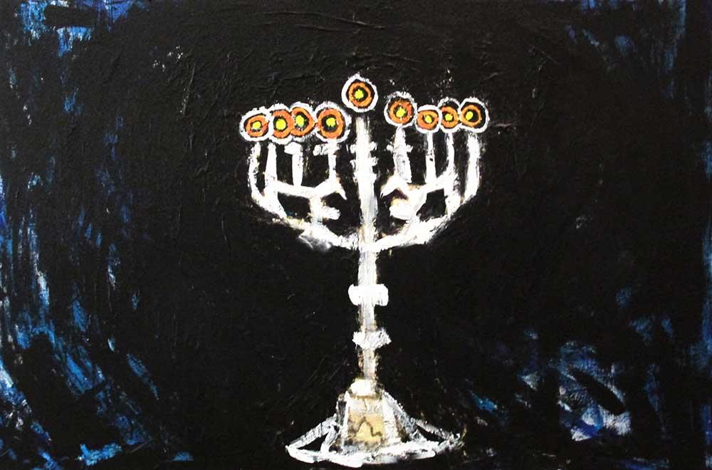 Ariel Shallit painting of Hanukkah-5774 #8