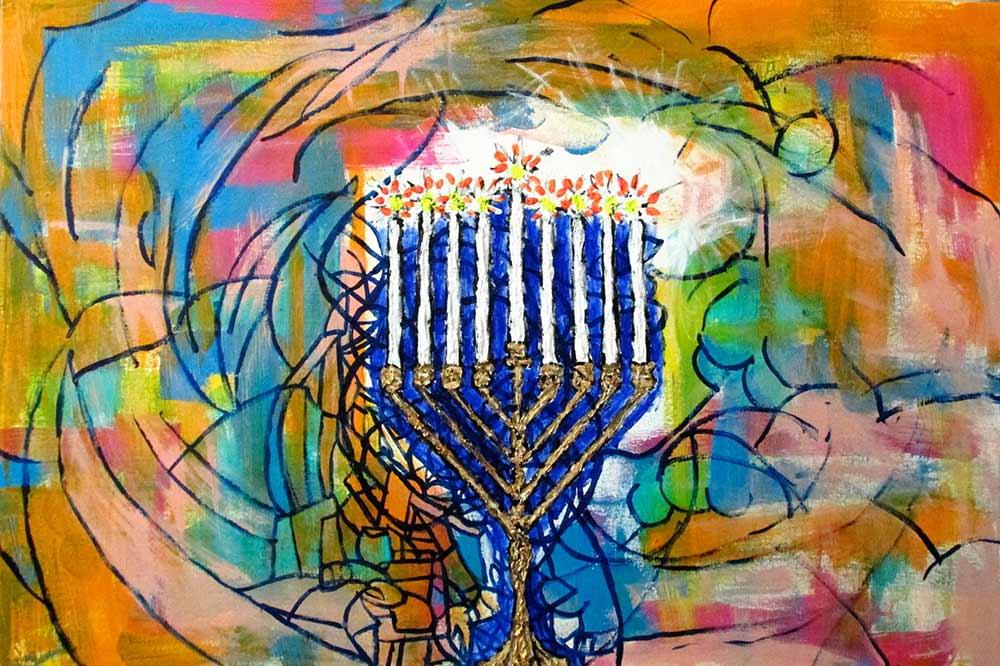 Ariel Shallit painting of Hanukkah 5774 #6