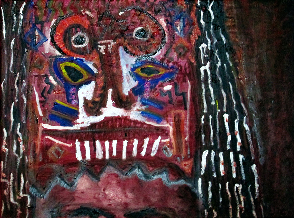 Ariel Shallit painting of Gods and Demons (Shaman Headress)