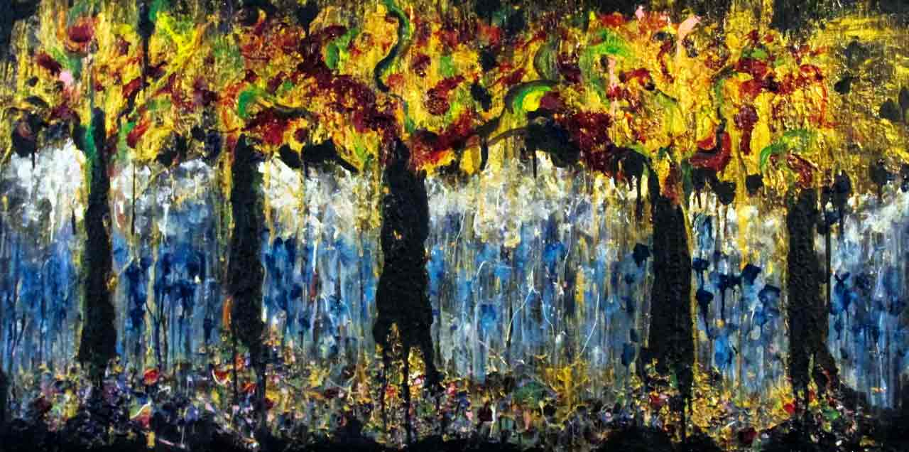 Ariel Shallit painting of The Clearing #4