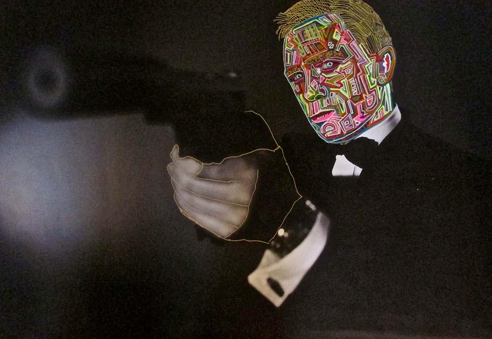 Ariel Shallit painting of Daniel Craig
