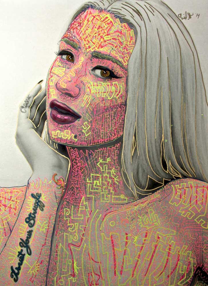 Ariel Shallit painting of Iggy Azalea