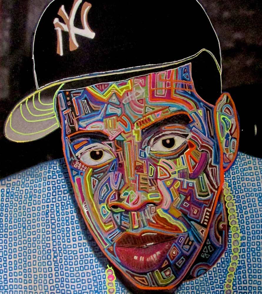 Ariel Shallit painting of Jay Z