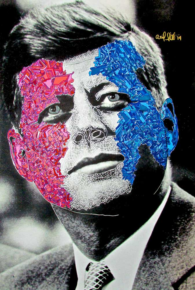 Ariel Shallit painting of JFK