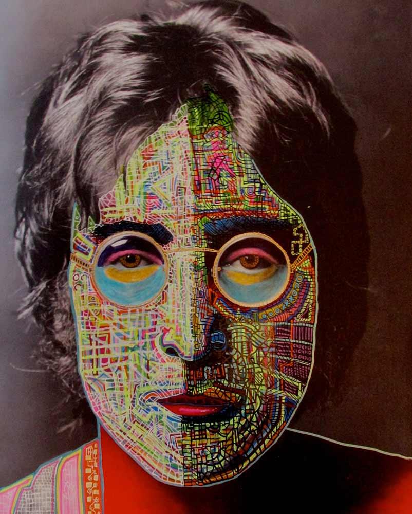 Ariel Shallit painting of John Lennon 2014