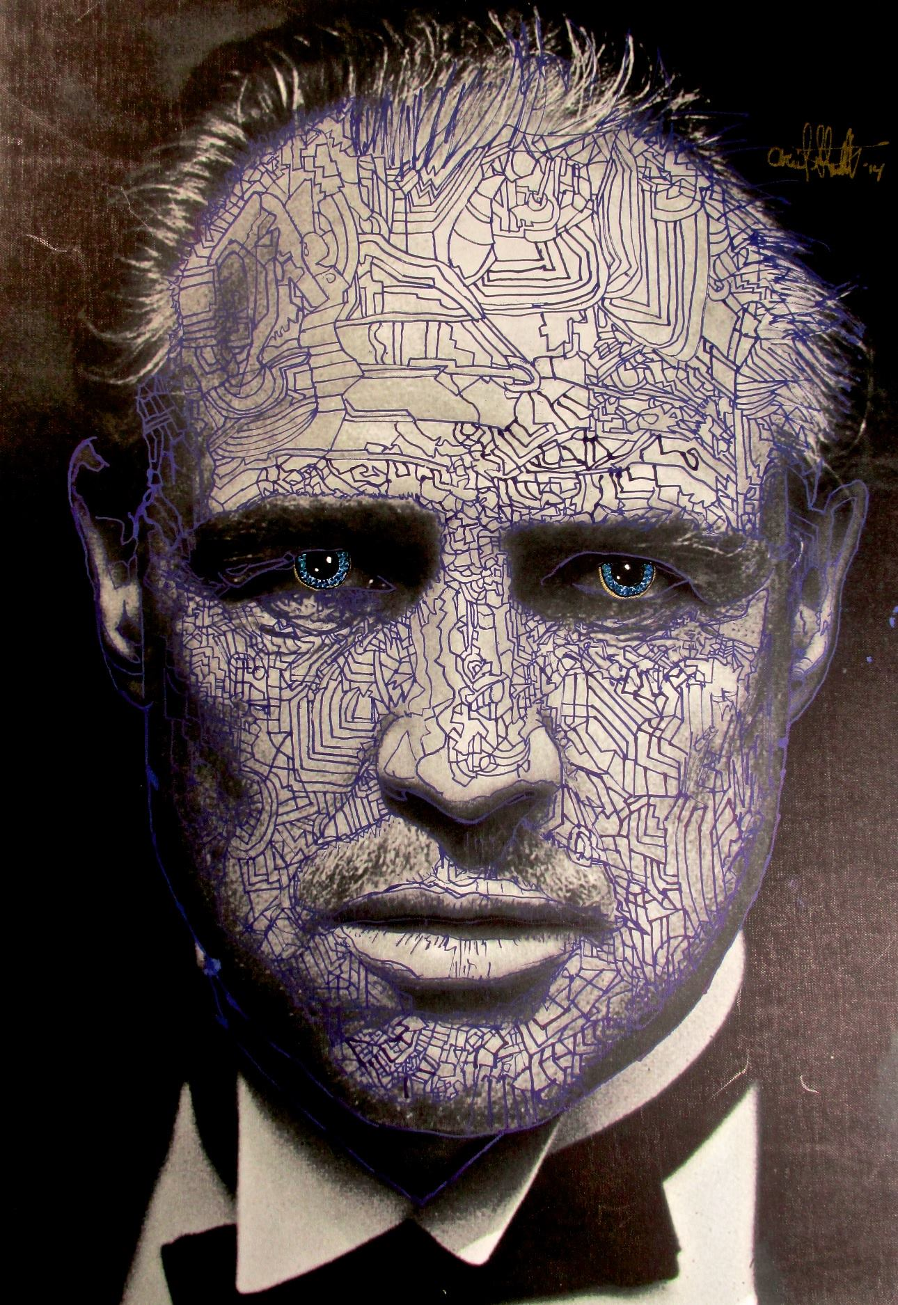 Ariel Shallit painting of Marlon Brando