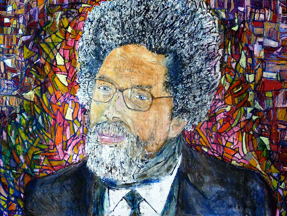 Ariel Shallit painting of Cornel West