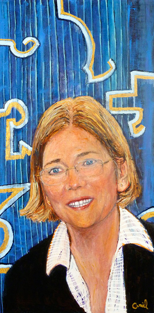Ariel Shallit painting of Elizabeth Warren