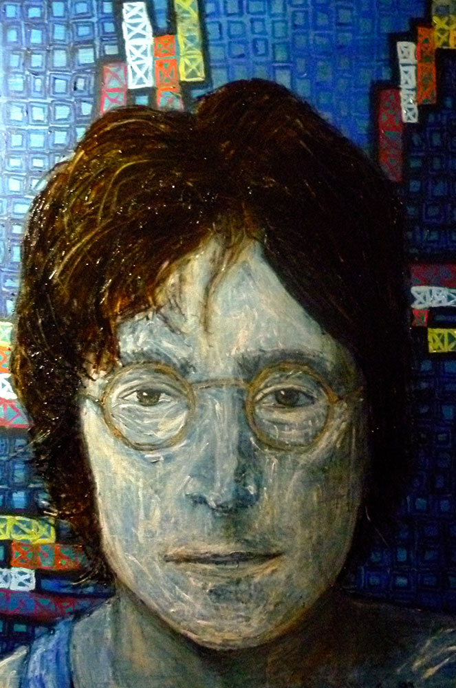 Ariel Shallit painting of Blue Lennon