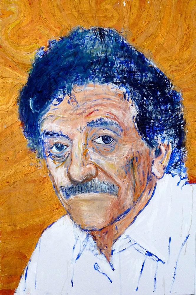 Ariel Shallit painting of Kurt Vonnegut
