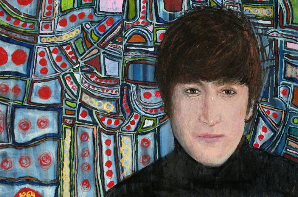 Ariel Shallit painting of John Lennon '64