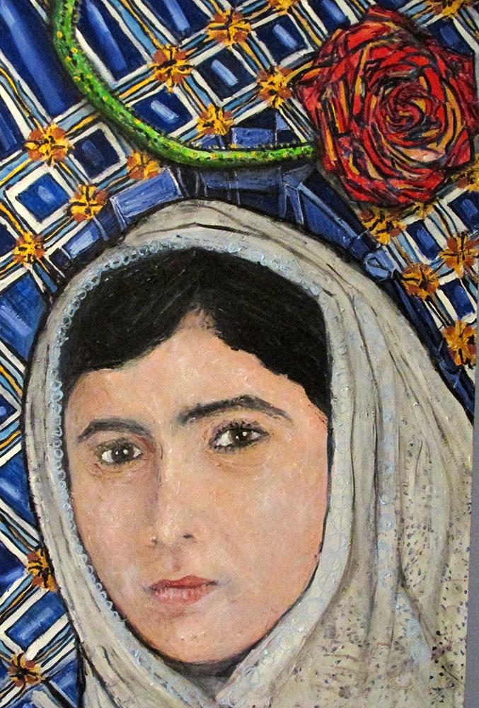 Ariel Shallit painting of Malala Yousafzai