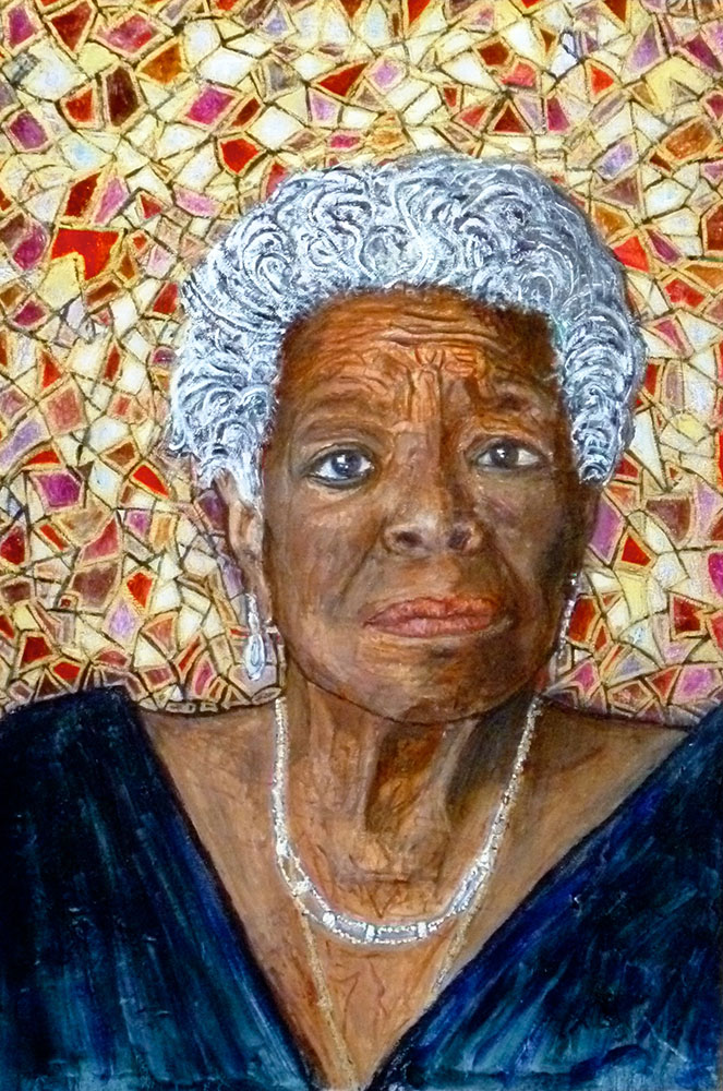 Ariel Shallit painting of Maya Angelou