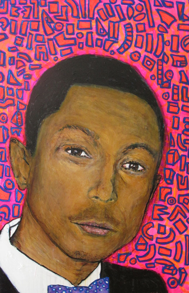 Ariel Shallit painting of Pharrell Williams