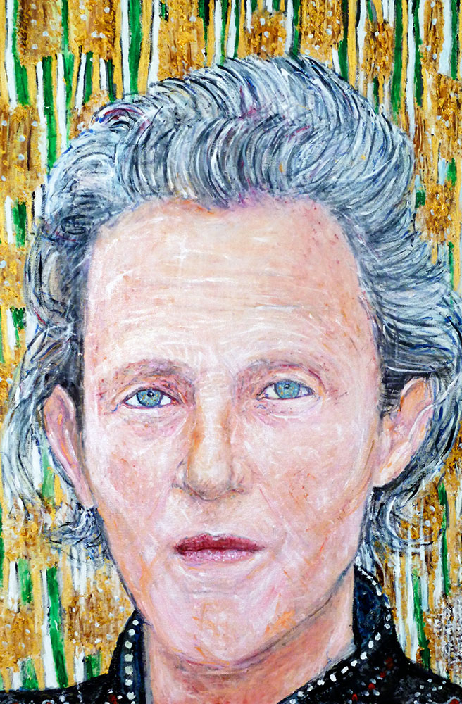 Ariel Shallit painting of Temple Grandin