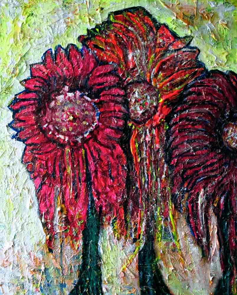 Ariel Shallit painting of Summer Flowers #1