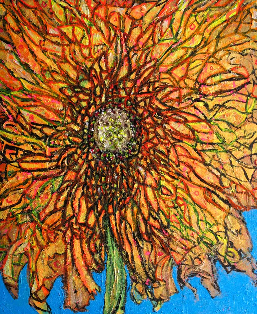 Ariel Shallit painting of Winter Flower #2