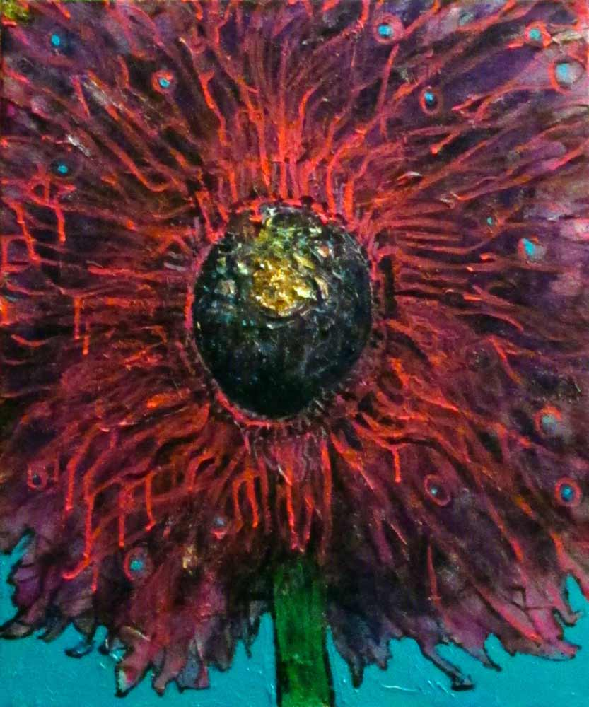 Ariel Shallit painting of Winter Flower #3