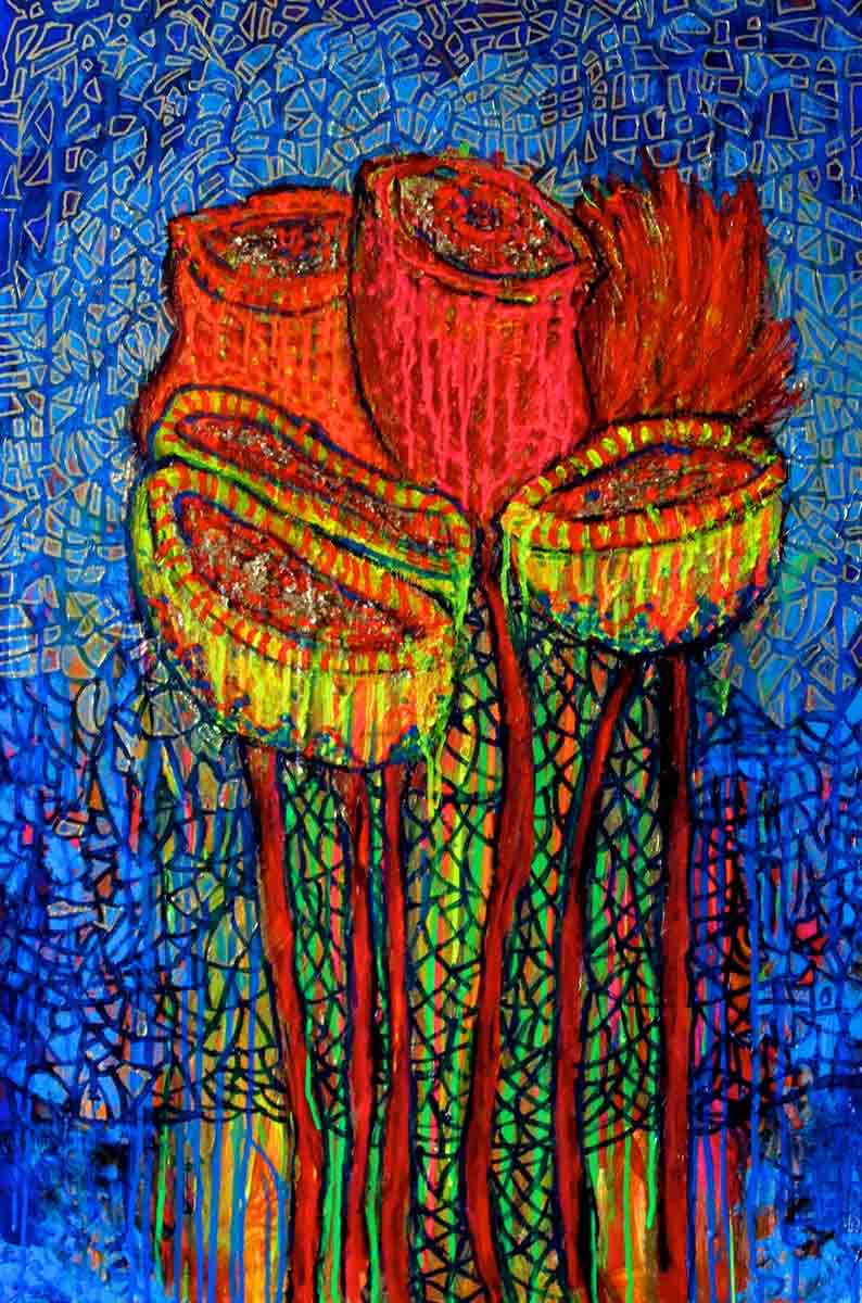 Ariel Shallit painting of Valentine #4