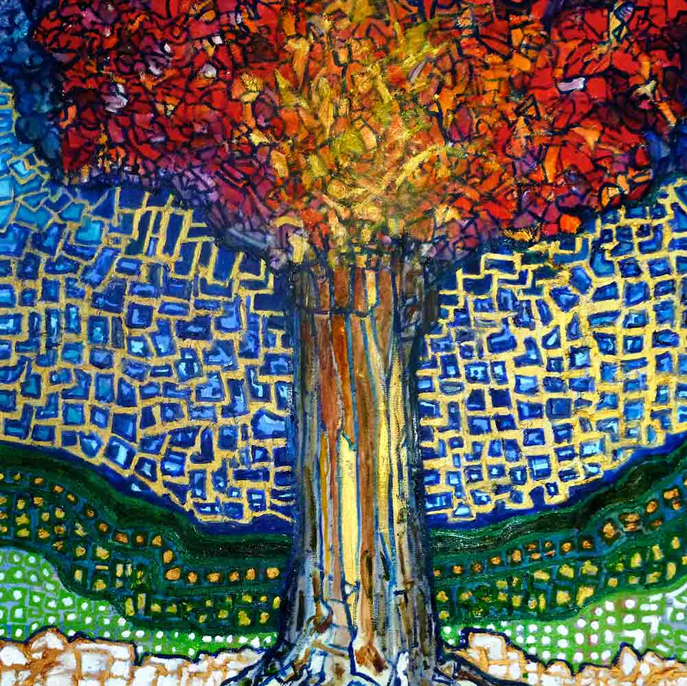 Ariel Shallit painting of Zev's Tree #1