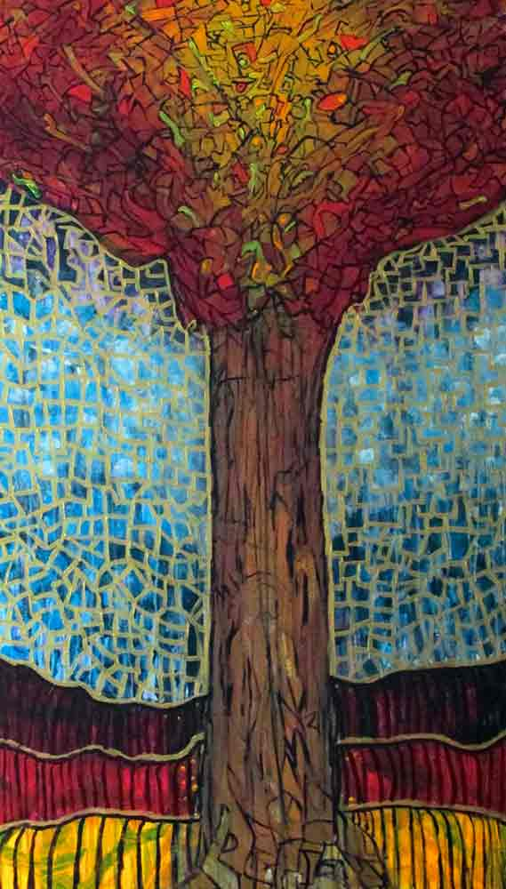 Ariel Shallit painting of Zev's Tree #10