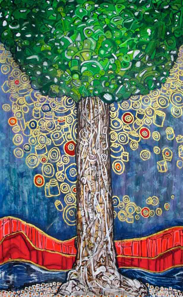 Ariel Shallit painting of Zev's Tree (Our little Girl)